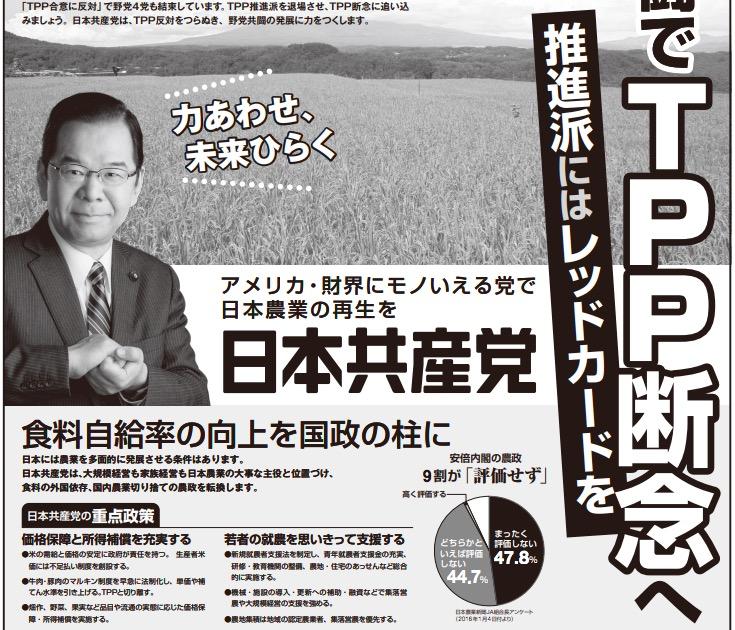 画像:共産党の政治ポスター