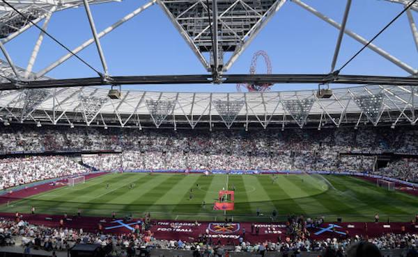 画像:ロンドン・スタジアム(サッカー利用時)