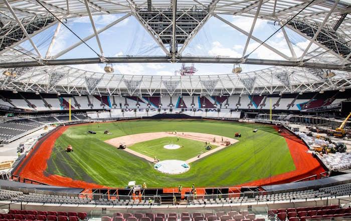 画像:ロンドン・スタジアム(野球利用時)