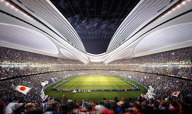 画像:新国立競技場(ザハ案)の内観
