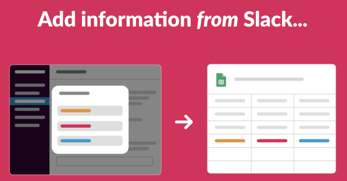 Add information from Slack…