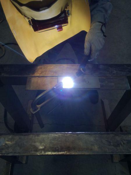 TIG溶接 溶接電流90Aで溶接の練習をする