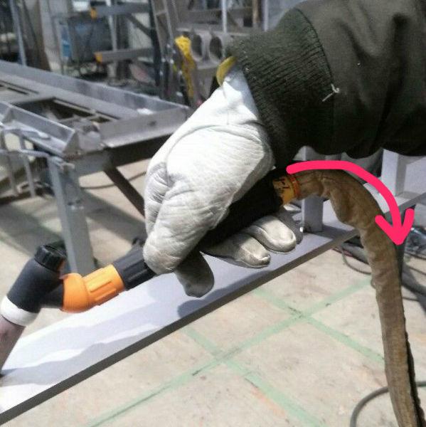 TIG溶接水冷式トーチケーブル破裂の原因