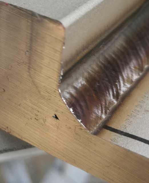 TIG溶接ステンレス鋼溶け込み不足画像