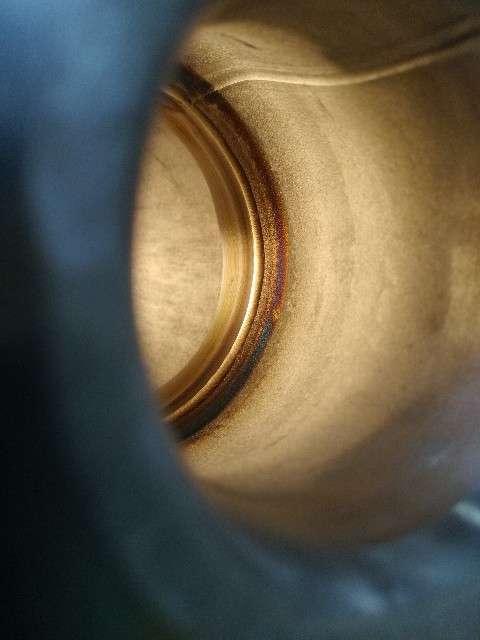TIG溶接ステンレス鋼パイプ裏波溶接画像