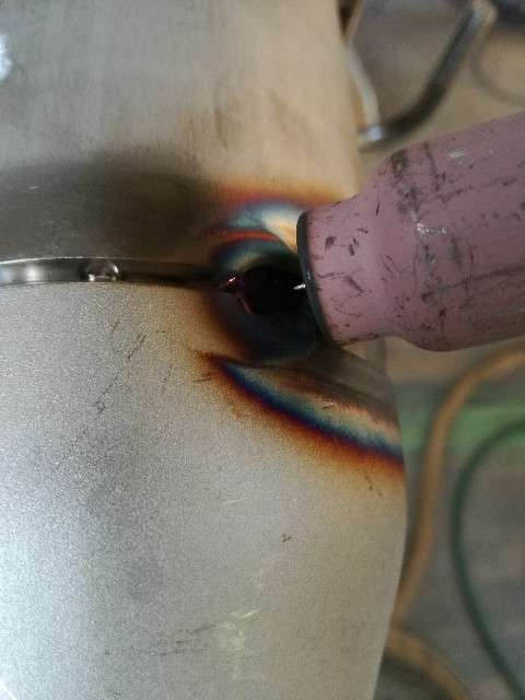 TIG溶接ステンレス鋼パイプ裏波溶接