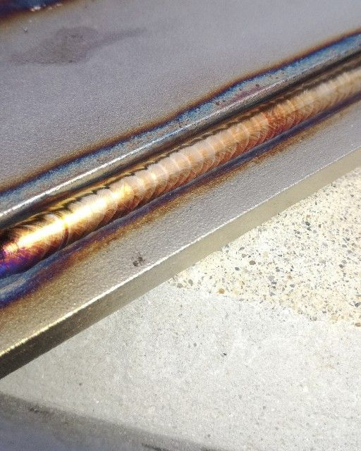 TIG溶接ステンレス鋼綺麗なすみ肉溶接ビード