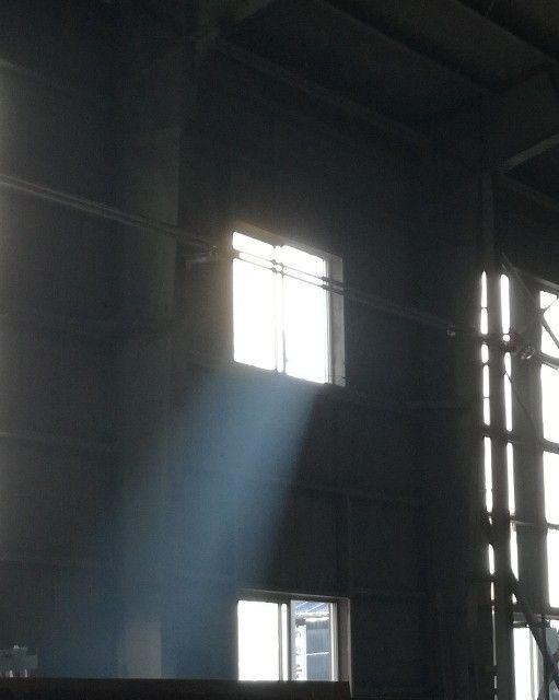 工場内に停留する溶接ヒューム
