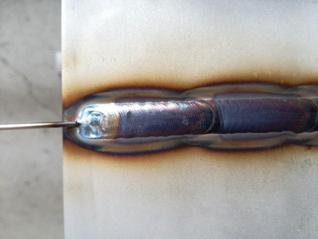 ティグ溶接ローリング