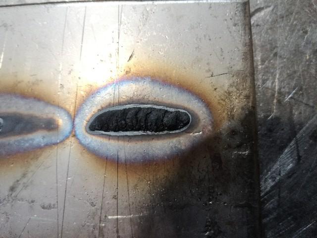 ステンレス薄板溶接酸化