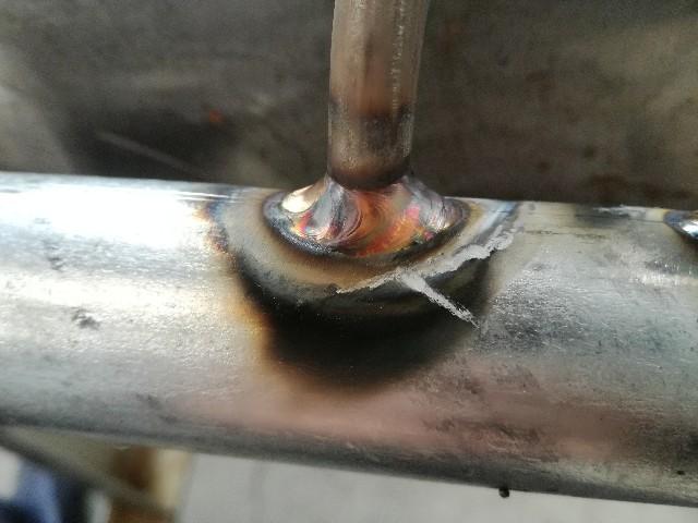 メッキ材とステンレス材のティグ溶接