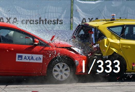 一年間で車の事故
