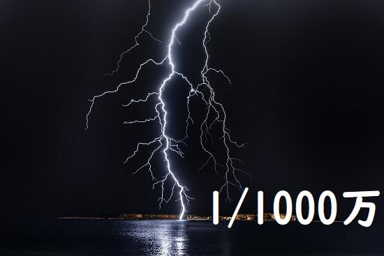 雷に打たれる確率
