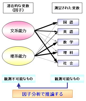5教科 因子分析 文系 理系