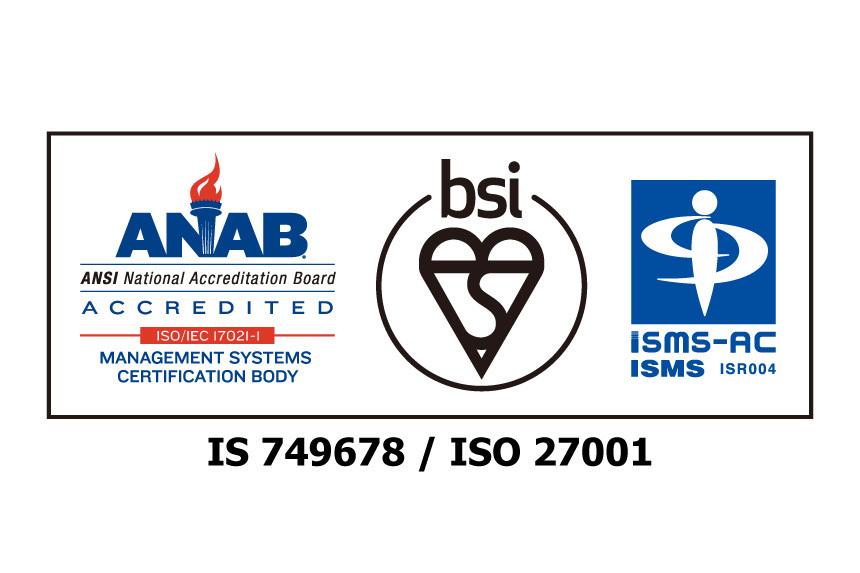 ISMS認証取得を示すロゴ