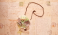 紫陽花と小鳥ネックレス