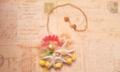 お花いっぱい小鳥のさえずりネックレス