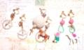 馬&パールフープ、羊、白い鳥&パールフープイヤリング