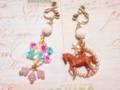 馬&パールフープイヤリング