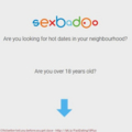 I39d better tell you before you get close - http://bit.ly/FastDating18Plus