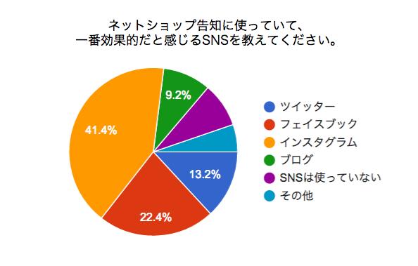 ネットショップで売れるSNS回答のなアンケート結果