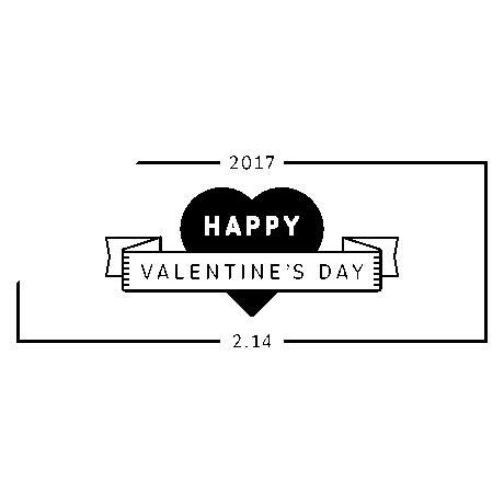 バレンタインデー販売促進用バナープレゼントメインシンプル黒
