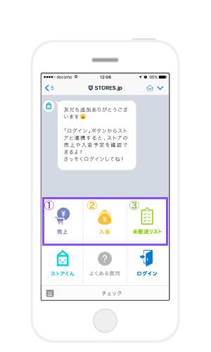 LINE連携:ネットショップの管理