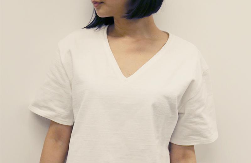 正装白TMサイズ女性着用