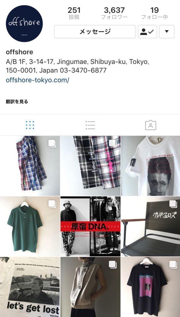 offshore tokyoさんのInstagramページ
