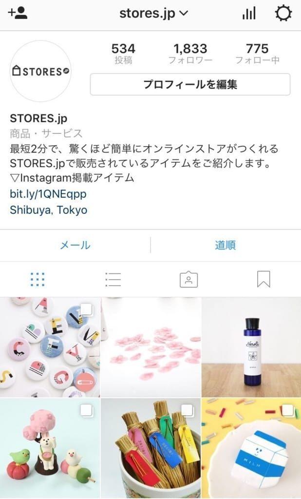 STORES.jpのInstagramページ