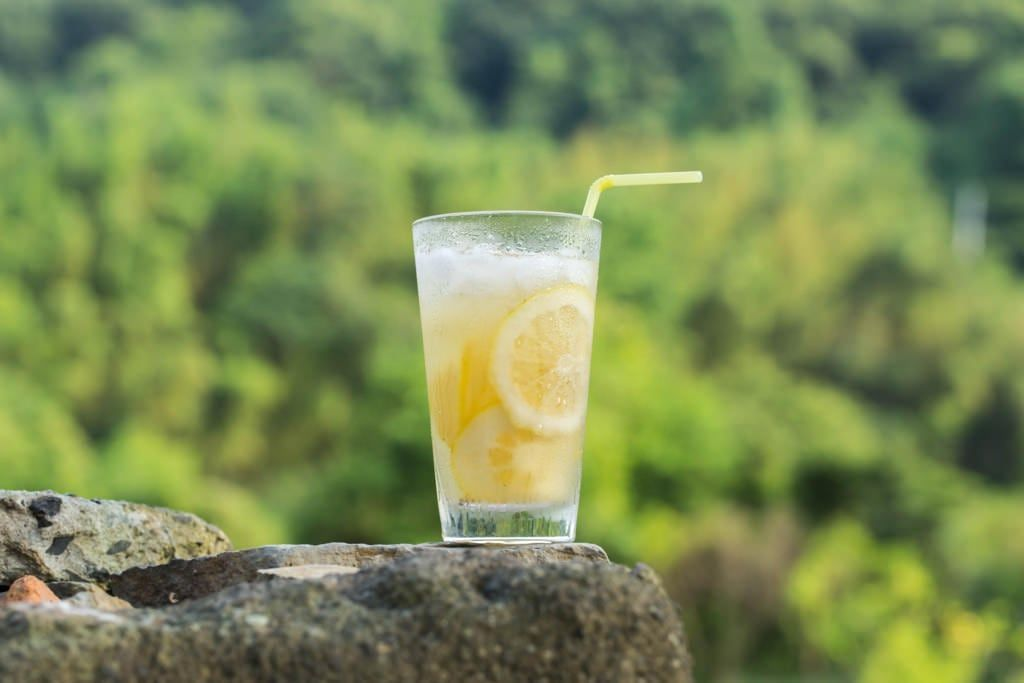豊島のレモンを使用したレモンスカッシュ