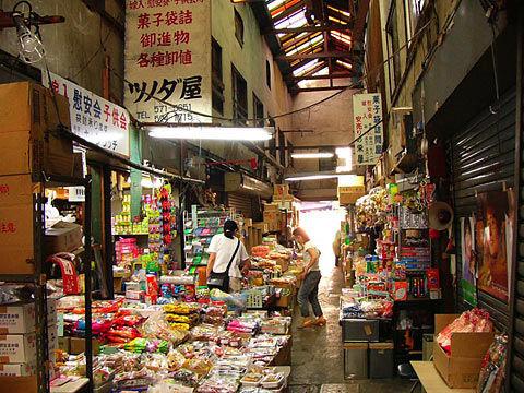 名古屋市にある明道町の卸問屋街