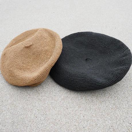 サマーベレー帽 black/brown