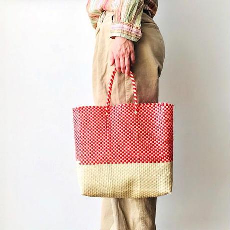 Cilantron / nylon mercado bag / red / natural / シラントロン / メルカドバッグ