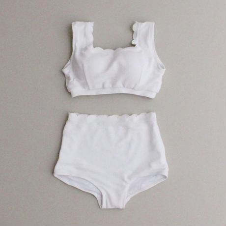 2colors-cotton scallop bikini