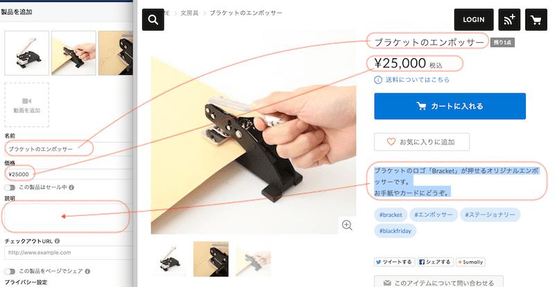 STORES.jpのアイテムをFacebookページに製品を登録する方法