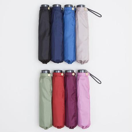 【日本製】 超軽量!!シンプル&ゴージャス カラー無地傘 全8色 50cm/折りたたみ傘