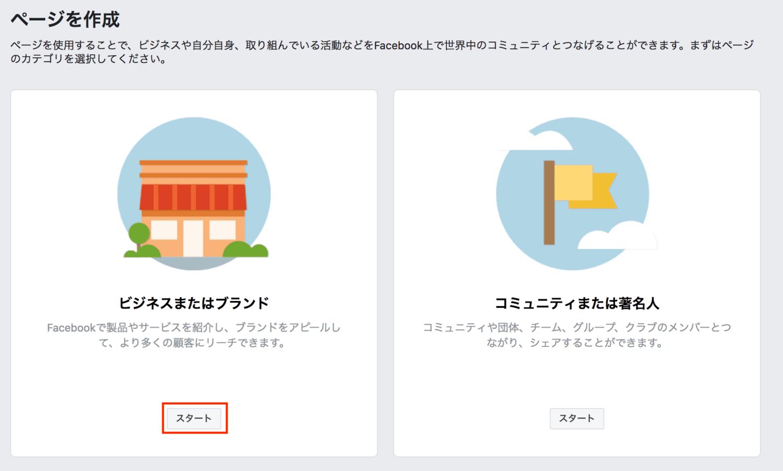 facebookページ作成方法2_PC