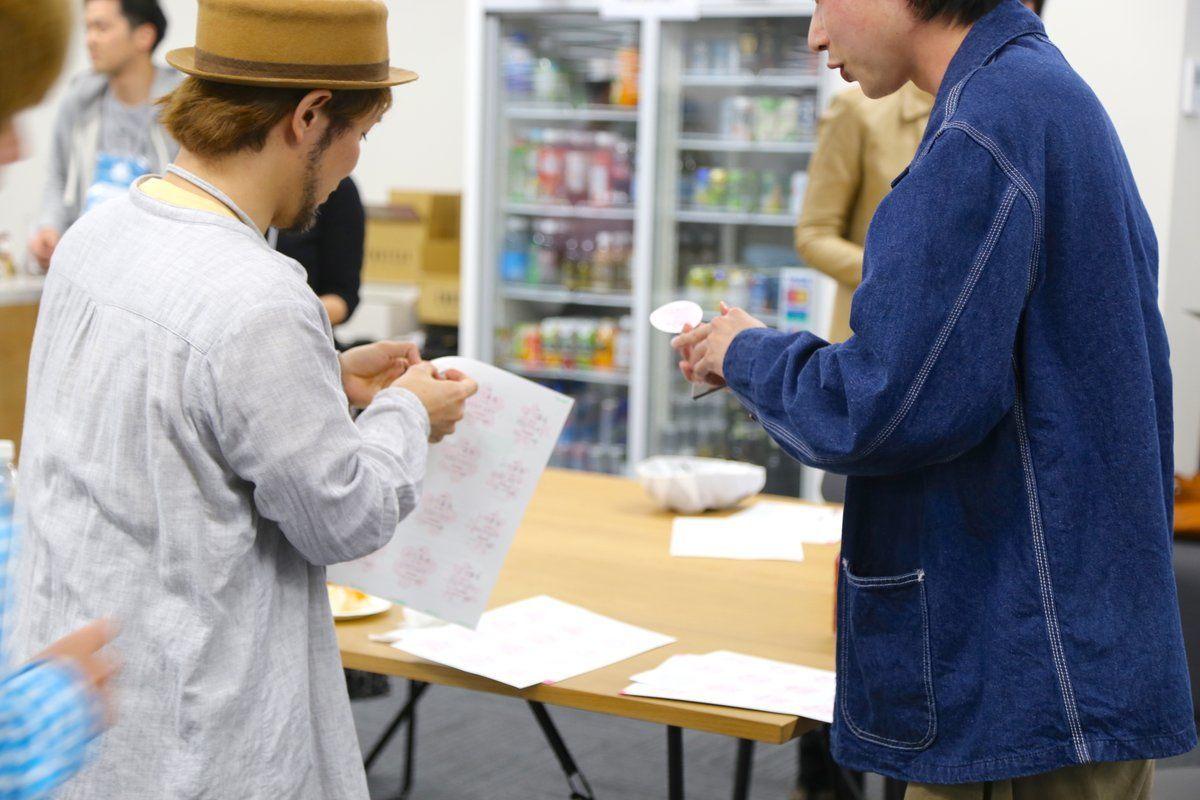 TACOSお花見会2019 アイスブレイク 自己紹介の様子