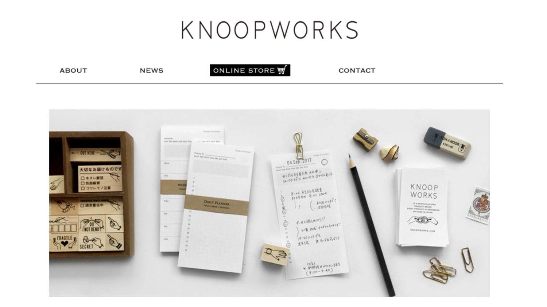 KNOOPWORKSの公式サイトのスクリーンショット