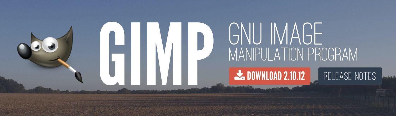 GIMP公式ページのスクリーンショット