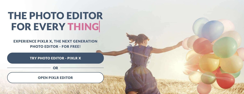 Pixlr Editor公式ページのスクリーンショット