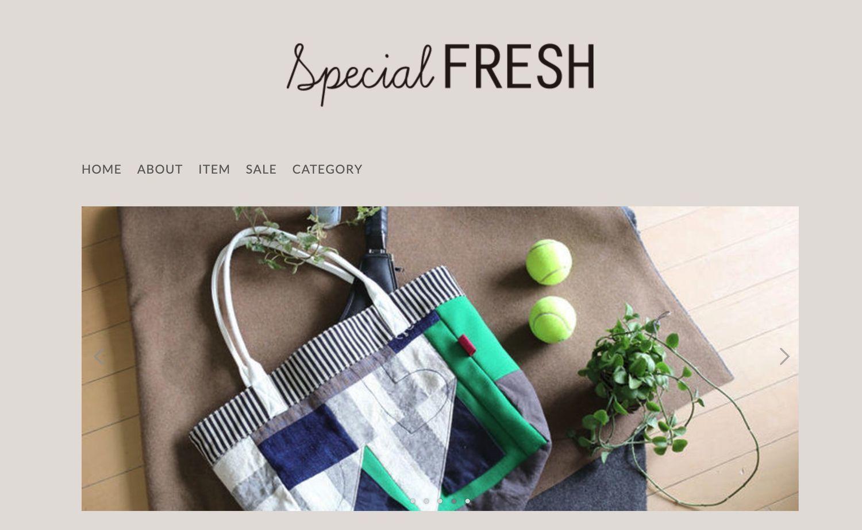 SpecialFRESHのホームページ