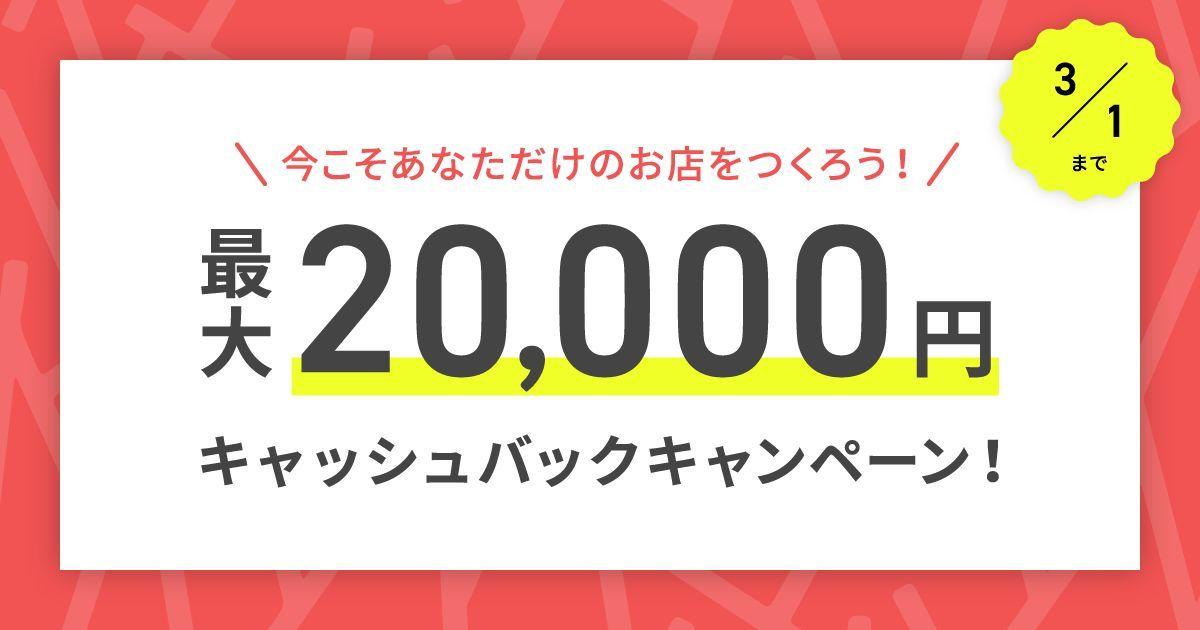 最大20,000円キャッシュバックキャンペーン実施