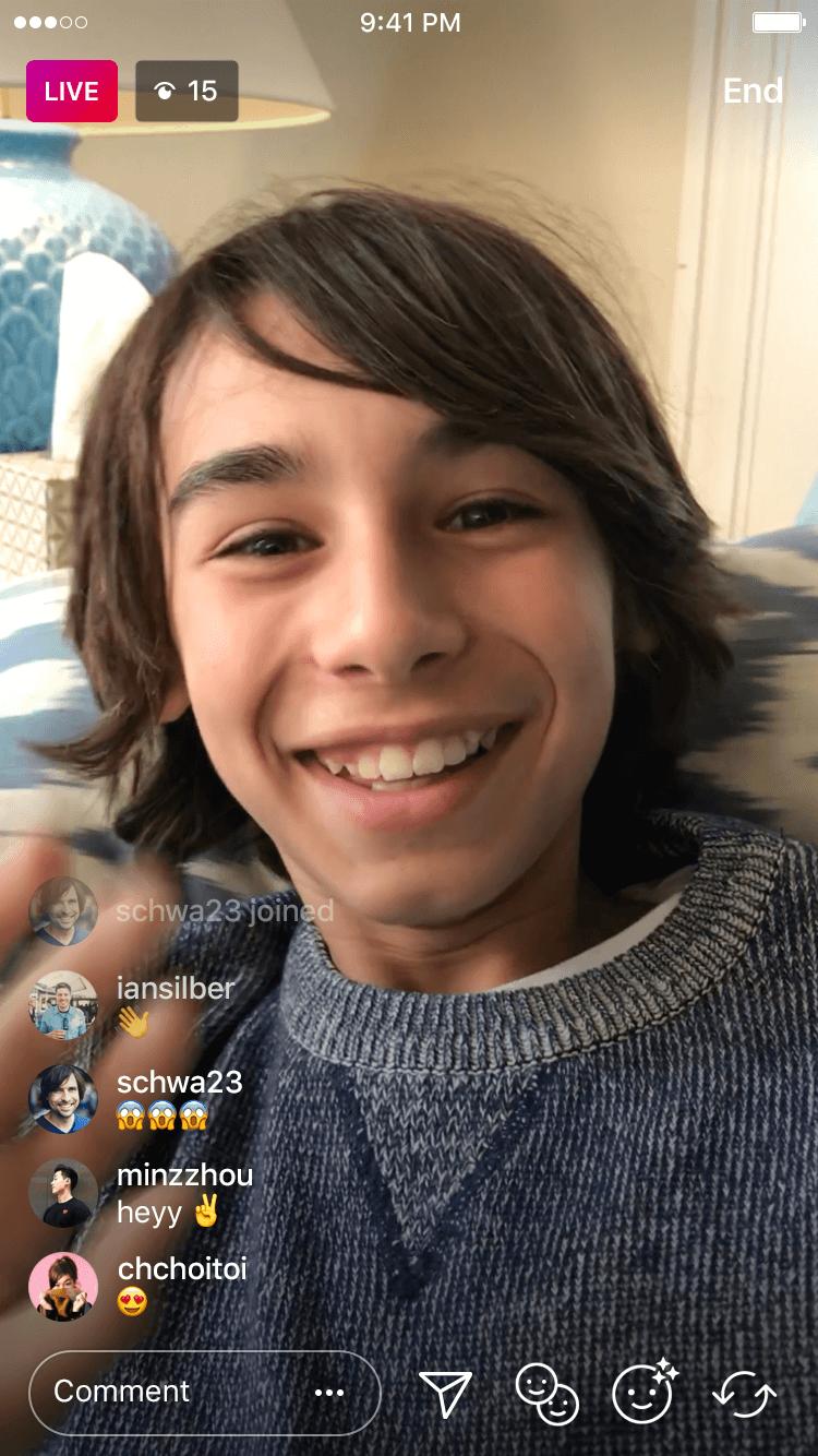 Instagramのライブ配信機能