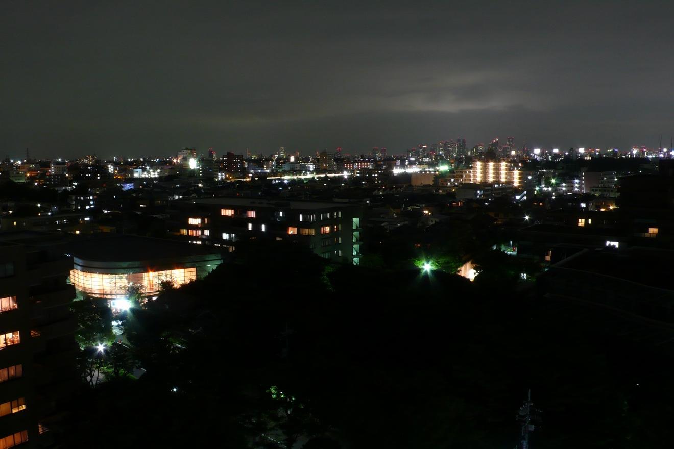 家付近の夜景 新宿方面