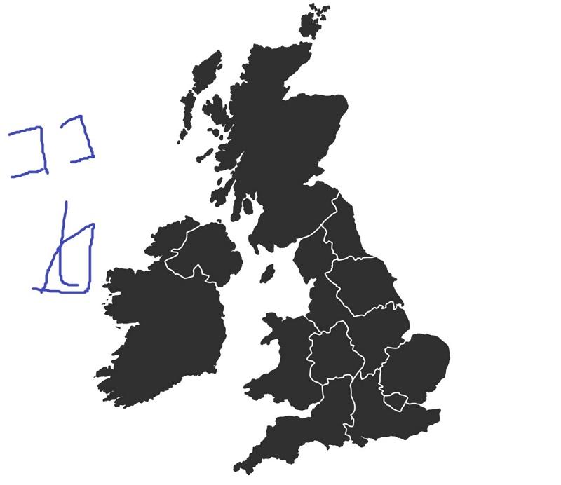 アイルランドの場所