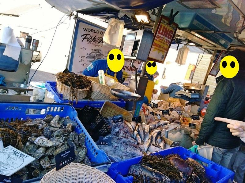 ゴールウェイ週末限定マーケット 魚