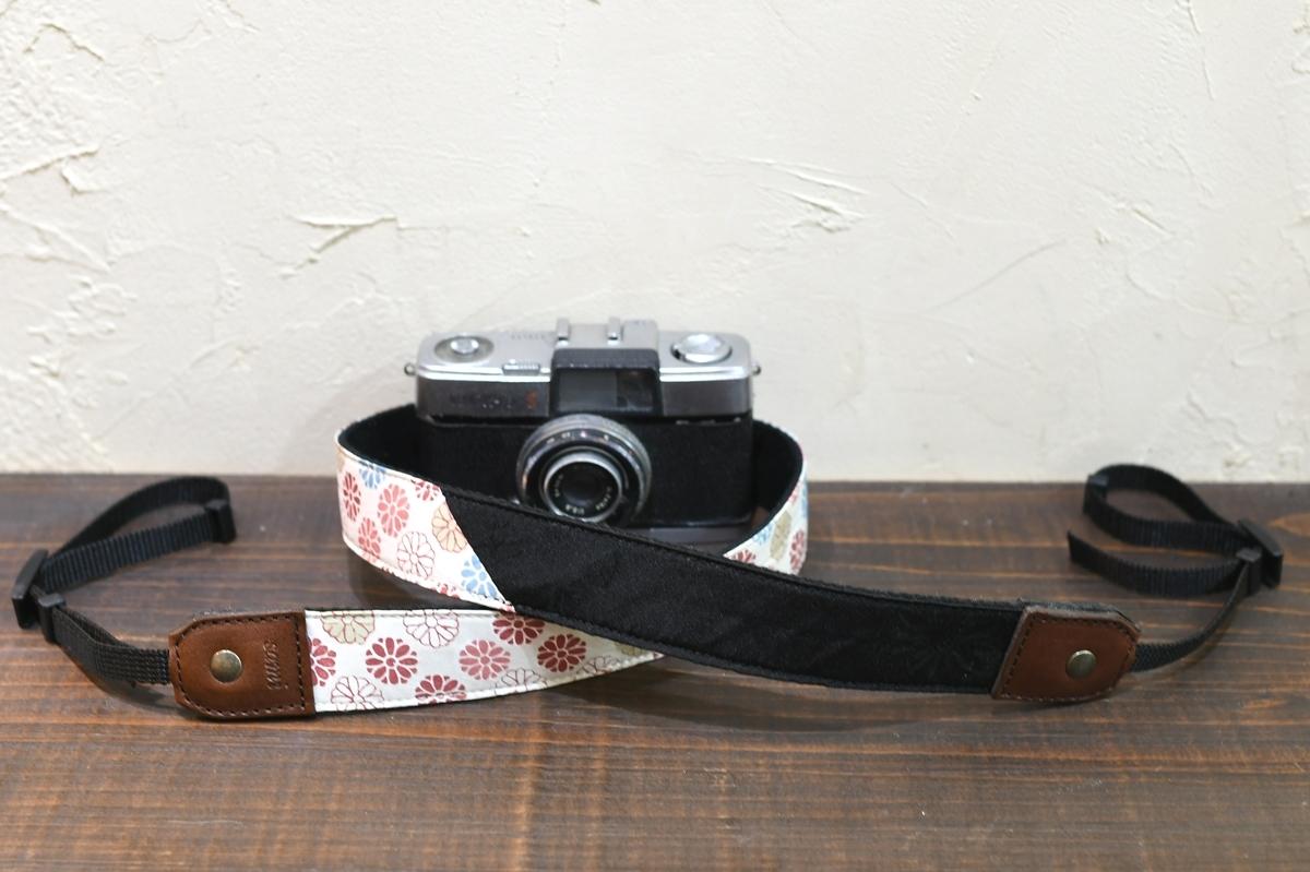 道行きコート リメイク カメラストラップ製作 着物 形見 想い出