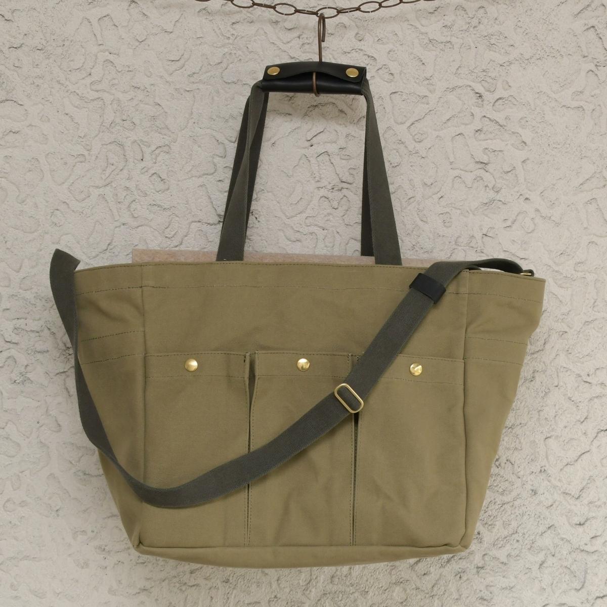6号帆布で鳥さんを運ぶ用の大き目バッグのオーダー製作